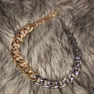 Zara two tone necklace chain link